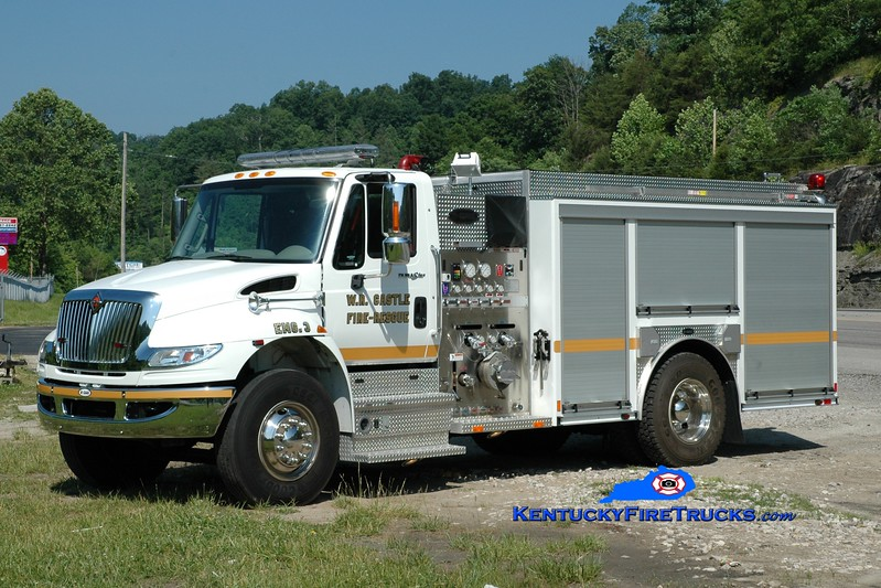 <center> W.R. Castle  Engine 3  <br> 2011 International 4400/E-One 1250/1000 <br> Greg Stapleton photo </center>