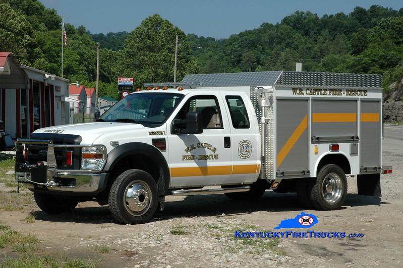 <center> W.R. Castle  Rescue 1  <br> 2008 Ford F-550 4x4/Fouts Bros  <br> Greg Stapleton photo </center>