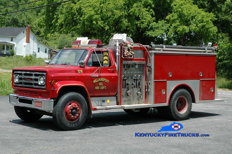 <center> Williamsport  Engine 1210  <br> 1987 GMC/Allegheny 1000/750 <br> Greg Stapleton photo </center>