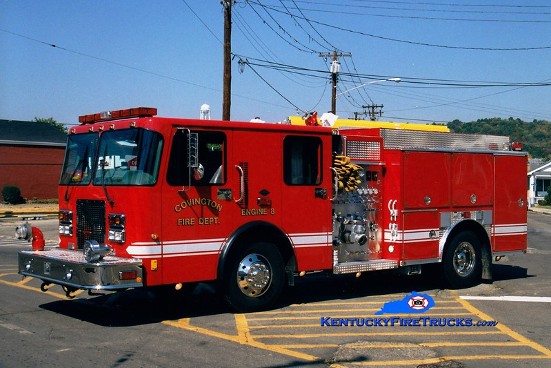 <center> RESERVE <br> Covington  Pumper 8 <br> 1999 Spartan/Precision 1250/500  <br> Greg Stapleton photo </center>