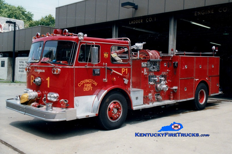 <center> RETIRED <br> Covington  <br> x-Pumper 1 and Pumper 4 <br> 1973 Seagrave PB 1250/500  <br> Greg Stapleton photo </center>