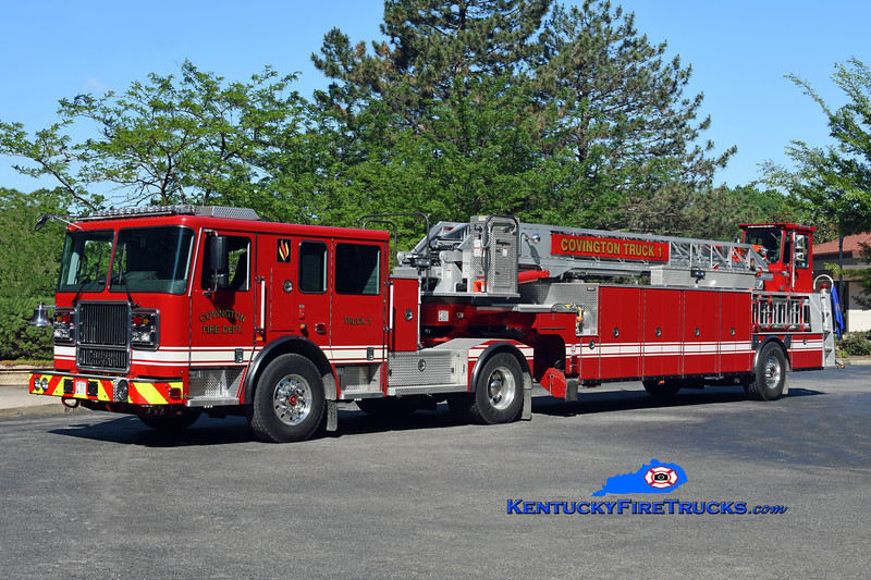 Covington  Truck 1<br /> 2017 Seagrave Marauder II 100' <br /> Kent Parrish photo