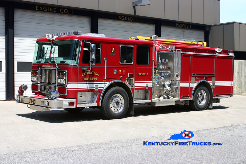 <center> REASSIGNED <br> Covington  Pumper 1 <br> 2008 Seagrave Marauder II 1500/500  <br> Kent Parrish photo </center>