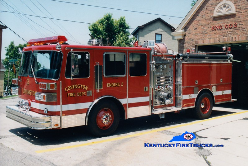 <center> RETIRED <br> Covington  Pumper 2 <br> 1991 Sutphen 1500/750  <br> Greg Stapleton photo </center>