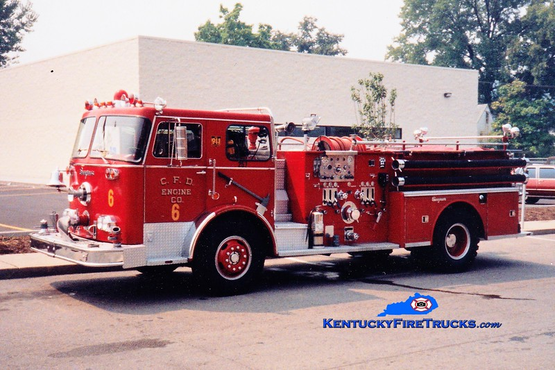 RETIRED <br /> Covington  Pumper 6<br /> 1970 Seagrave PB 1250/500<br /> Greg Stapleton photo