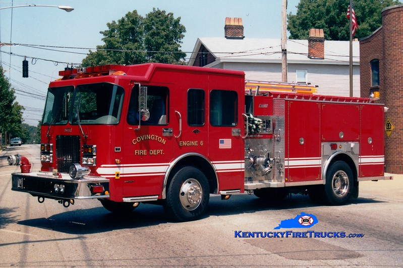 <center> RESERVE <br> Covington  Pumper 6 <br> 2001 Spartan/Summit 1250/500  <br> Greg Stapleton photo </center>