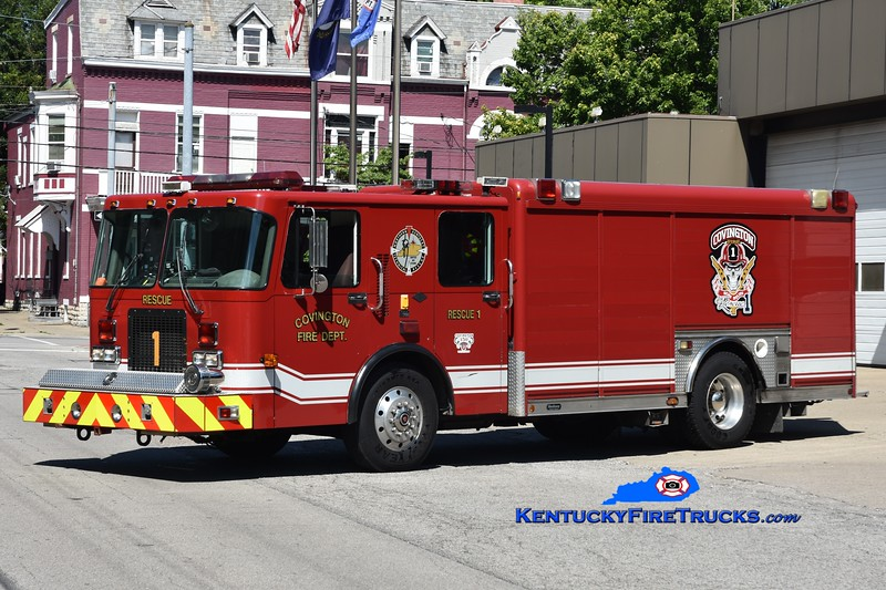 RESERVE <br /> Covington Rescue 1 <br /> x-Highland Heights, KY <br /> 1997 Spartan Advantage/Hackney <br /> Greg Stapleton photo
