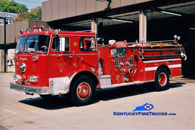 RETIRED <br /> Covington  Pumper 2 <br /> 1970 Seagrave PB 1250/500<br /> Greg Stapleton photo
