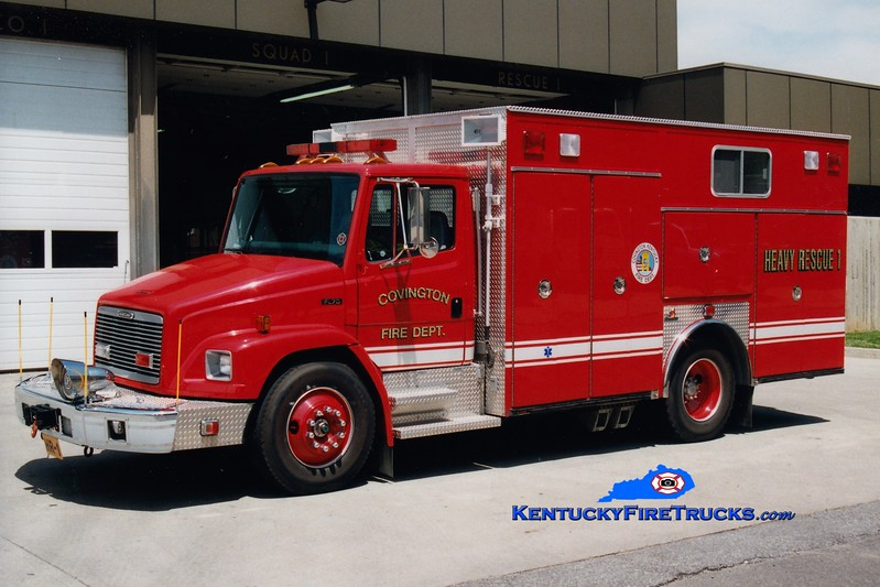 <center> RESERVE <br> Covington  Rescue 1 <br> 1996 Freightliner FL70/Ferrara <br> Greg Stapleton photo </center>