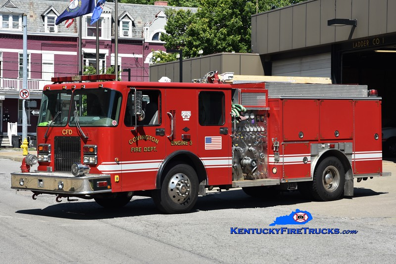 RESERVE <br /> Covington  Pumper 3 <br /> x-Pumper 8<br /> 1999 Spartan/Precision 1250/500 <br /> Greg Stapleton photo
