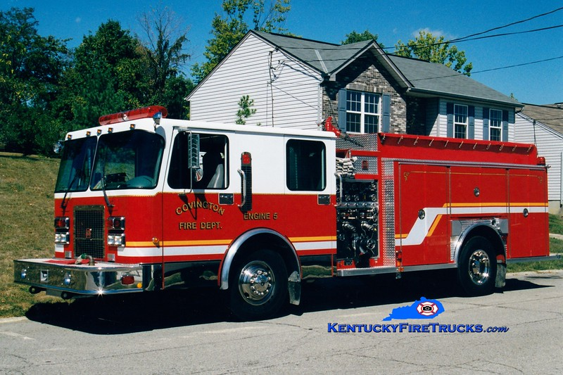 <center> RETIRED <br> Covington  Pumper 5 <br> 1998 Spartan/Southern Coach 1250/1000  <br> Greg Stapleton photo </center>