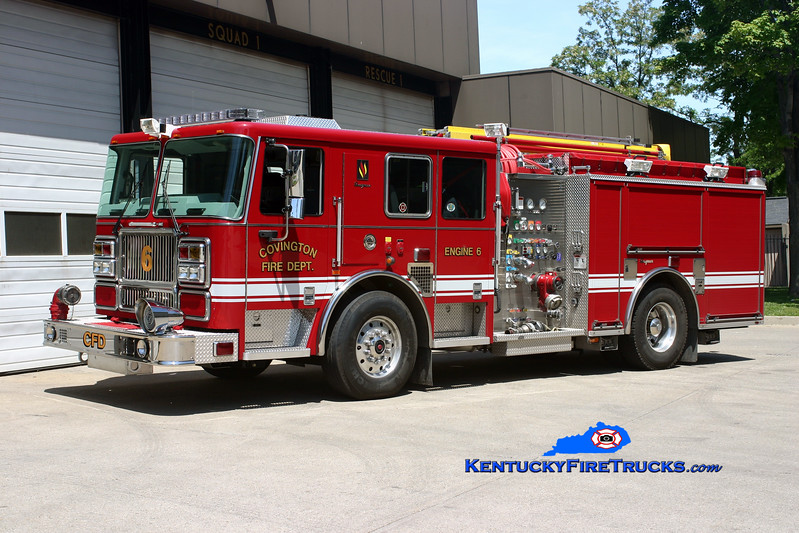 <center> REASSIGNED <br> Covington  Pumper 6 <br> 2008 Seagrave Marauder II 1500/500  <br> Kent Parrish photo </center>