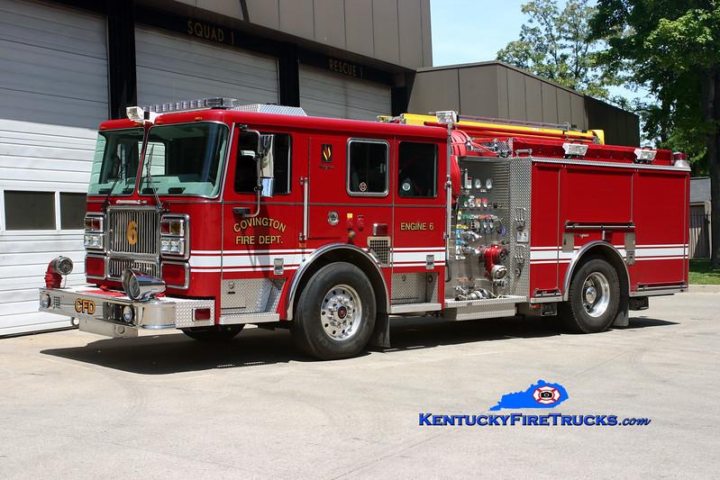 <center> REASSIGNED <br> Covington  Pumper 6 <br> 2008 Seagrave Marauder II 1500/500  <br> Kent Parrish photo </center>