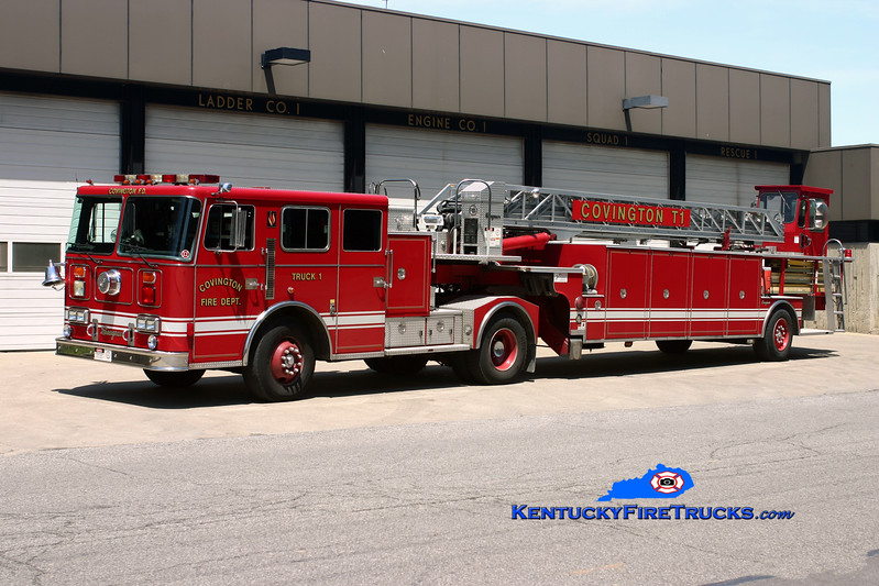 <center> RESERVE <br> Covington  Truck 1 <br> 1994 Seagrave JT 100'  <br> Kent Parrish photo </center>