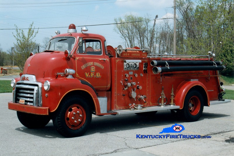 Crescent Springs-Villa Hills Antique<br /> 1954 GMC 450/Ahrens-Fox 500/500<br /> Greg Stapleton photo