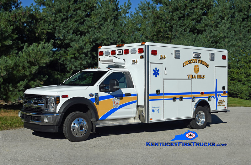 Crescent Springs-Villa Hills Squad 514<br /> 2018 Ford F-450 4x4/Braun<br /> Kent Parrish photo