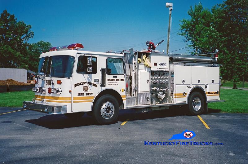 <center> Crescent Springs-Villa Hills  Reserve Engine 501<br> 1987 Simon-Duplex/FMC 1500/500 <br> Kent Parrish photo </center>