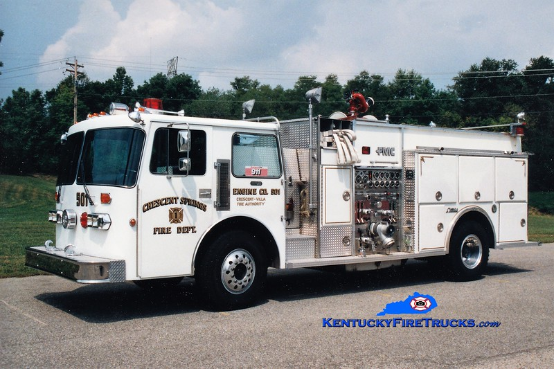 Crescent Springs-Villa Hills Reserve Engine 501<br /> 1987 Simon-Duplex/FMC 1500/500<br /> Greg Stapleton photo