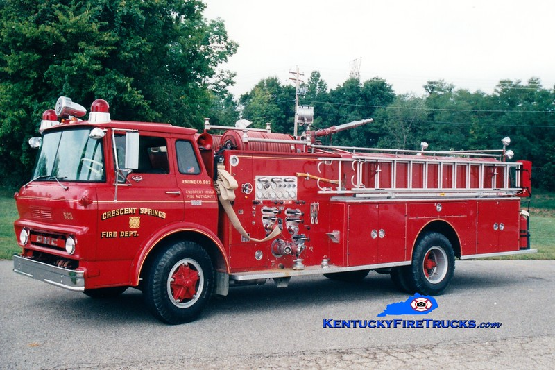 RETIRED <br /> Crescent Springs-Villa Hills  Engine 503<br /> 1967 GMC TC6500/Boyer 750/500/Quad<br /> Greg Stapleton photo