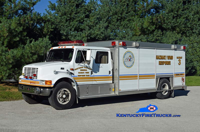 Crescent Springs-Villa Hills  Hazmat 3<br /> Northern Kentucky Regional Hazmat/WMD Response Team<br /> x-Rescue 524 <br /> 1992 International 4900/Ohio Truck Equip/Sutphen <br /> Kent Parrish