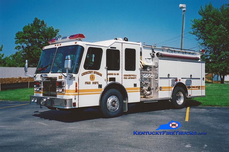 <center> RETIRED <br> Crescent Springs-Villa Hills  Engine 503 <br> 1994 Simon-Duplex/Luverne 1500/750 <br> Kent Parrish photo </center>