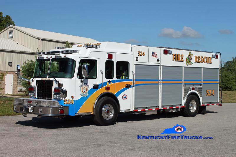 <center> Crescent Springs-Villa Hills  Rescue 524 <br> 2012 Spartan Gladiator/Summit 1500/750/30 <br> Kent Parrish photo </center>