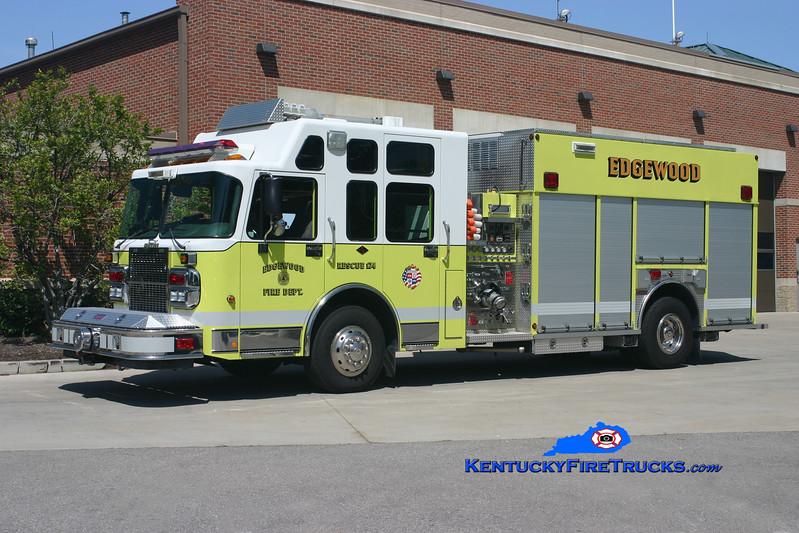 <center> Edgewood  Rescue 174 <br> 2004 Spartan Gladiator/Summit 1500/500/30 <br> Kent Parrish photo </center>