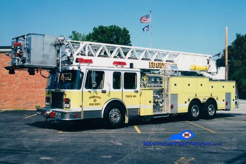 Edgewood  Truck 160<br /> x-Southern Hills, KY <br /> 1995 Spartan/1985 Summit/1978 FTI- LTI 1250/300/85'<br /> Greg Stapleton photo