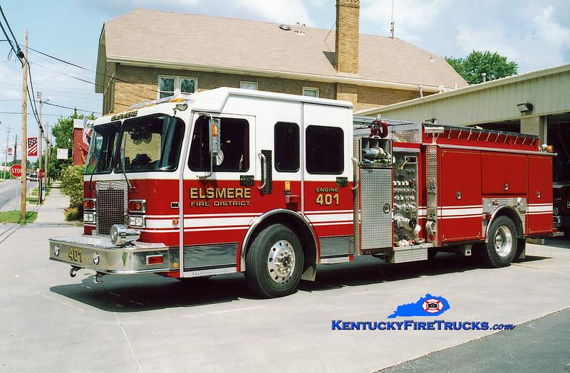 <center> Elsmere  Engine 402 <br> x-Engine 401 <br> 2004 Spartan Advantage/Ferrara 1500/750 <br> Kent Parrish photo </center>