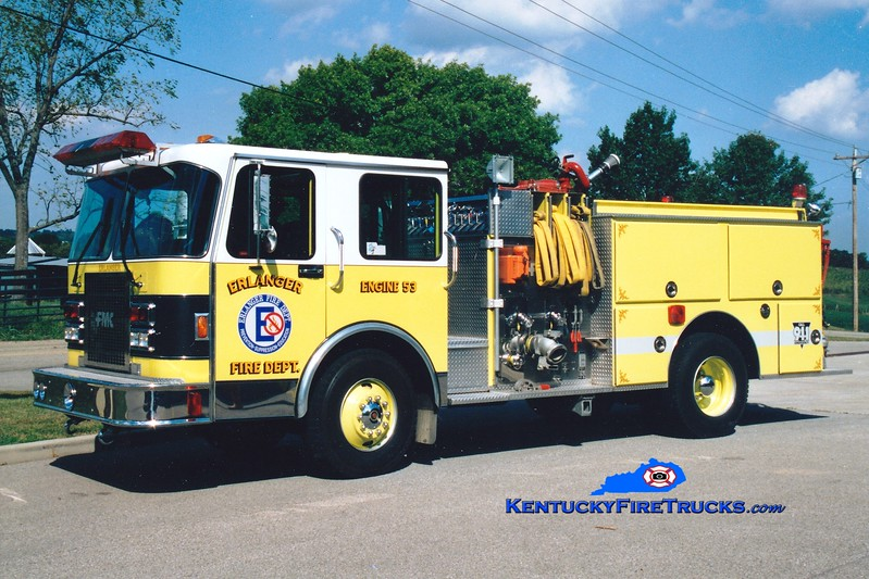 <center> RETIRED <br> Erlanger  Engine 53 <br> 1990 Spartan/FMC 1500/750 <br> Greg Stapleton photo </center>