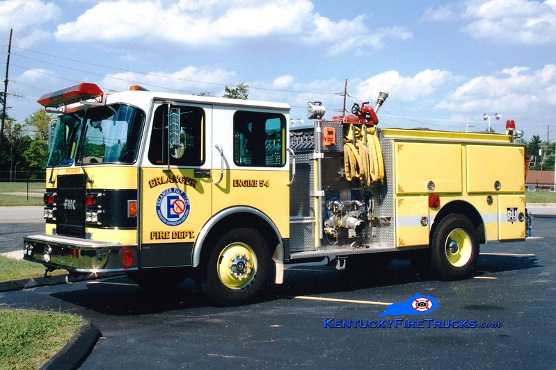 <center> RETIRED <br> Erlanger  Engine 54 <br> 1990 Spartan/FMC 1500/750 <br> Greg Stapleton photo </center>