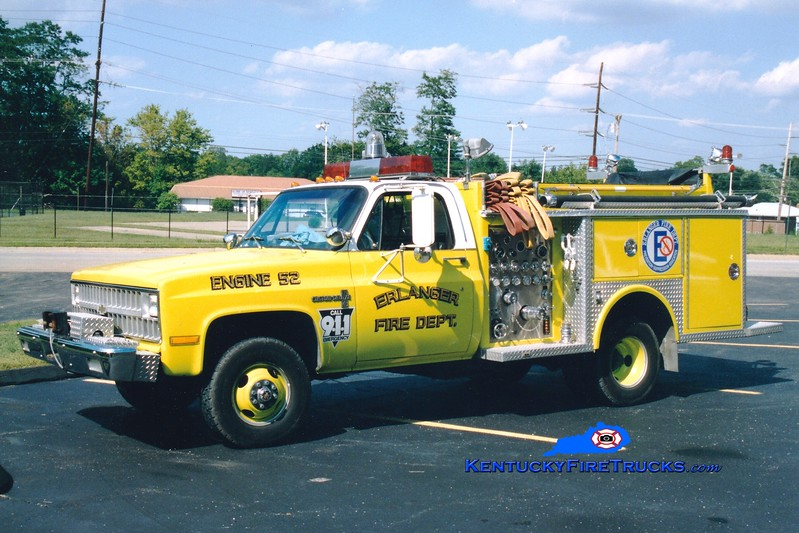<center> RETIRED <br> Erlanger  Engine 52 <br> 1980 Chevy 4x4/Allegheny 250/250 <br> Greg Stapleton photo </center>