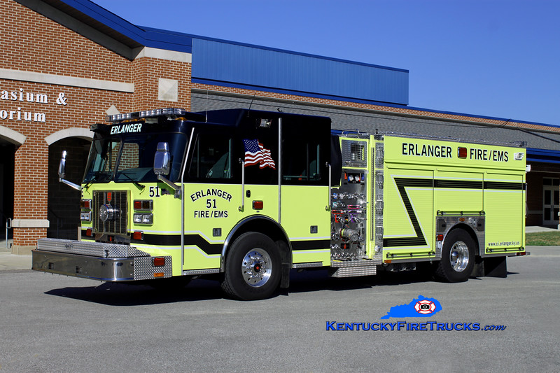 <center> RETIRED <br> Erlanger  Engine 51 <br> 2012 Sutphen Monarch 1500/750/30 <br> Kent Parrish photo </center>