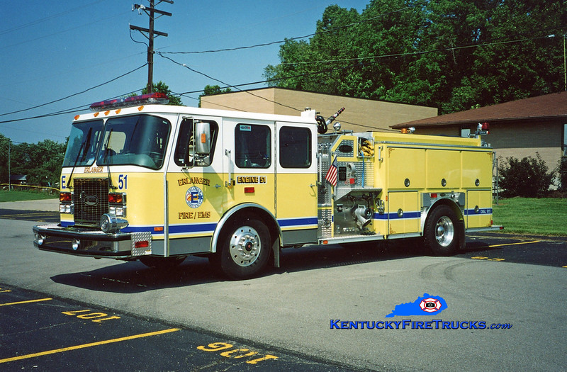 <center> Erlanger  Engine 51<br>  1999 E-One Cyclone II 1250/750 <br> Greg Stapleton photo </center>