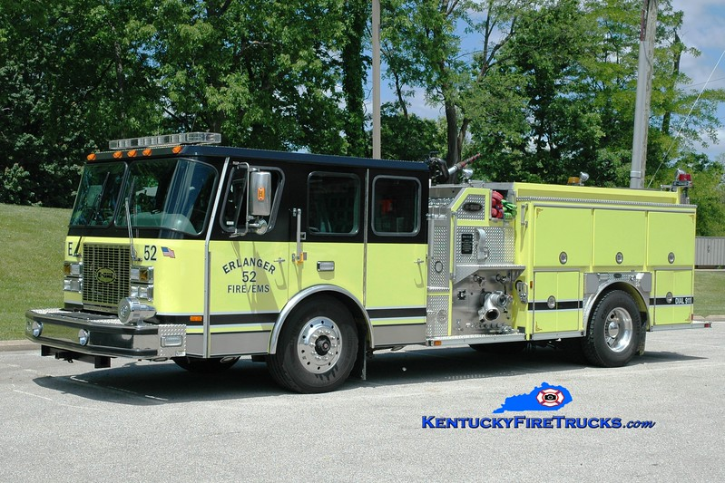 <center> Erlanger  Engine 52 <br> x-Engine 51 <br> 1999/2015 E-One Cyclone II 1250/750 <br> Greg Stapleton photo </center>