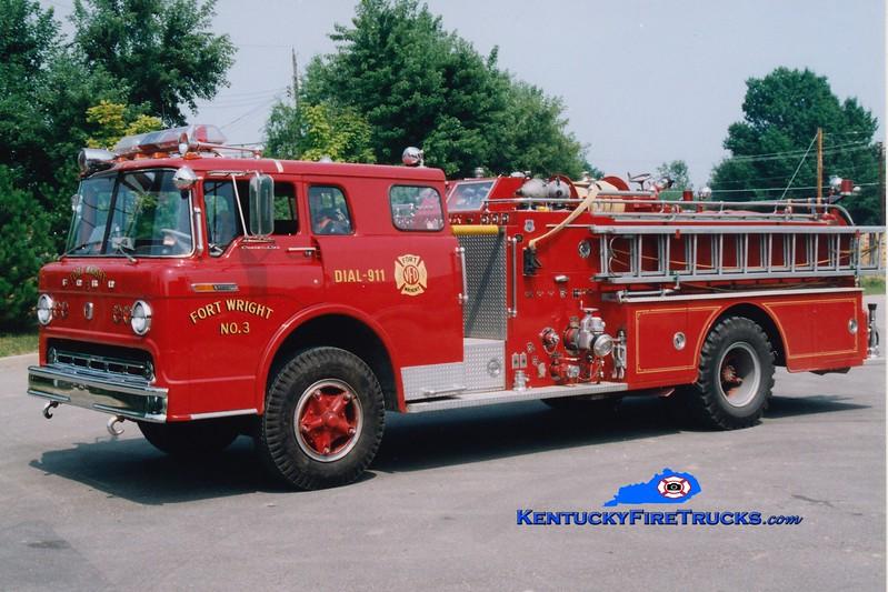 RETIRED <br /> Fort Wright  Engine 3<br /> 1973 Ford C/Howe 1000/300/Quad<br /> Greg Stapleton photo