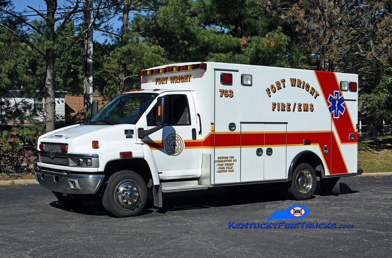 Fort Wright Squad 763<br /> 2008 Chevy C4500/Braun<br /> Kent Parrish photo