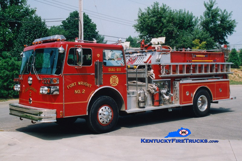 RETIRED <br /> Fort Wright  Engine 2<br /> 1983 Sutphen Deluge 1500/1000<br /> Greg Stapleton photo