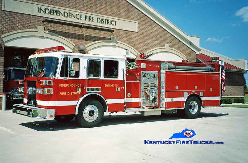 <center> RETIRED <br> Independence Engine 452 <br> 1996 Sutphen 1500/500/Quad <br> Kent Parrish photo </center>