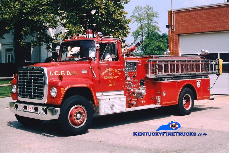 <center> RETIRED <br> Independence Engine 457 <br> 1976 Ford LN/Grumman-Howe 1000/750/Quad <br> Greg Stapleton photo </center>