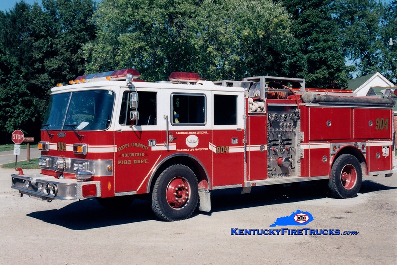 RETIRED<br /> Kenton  Engine 904<br /> x-Okolona, KY <br /> 1989 Pierce Arrow/1984 E-One 1500/750<br /> Greg Stapleton photo