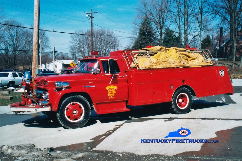 RETIRED <br /> Ryland Heights  Tanker 570<br /> 1960 GMC/Local/FD 500/1400<br /> Greg Stapleton photo