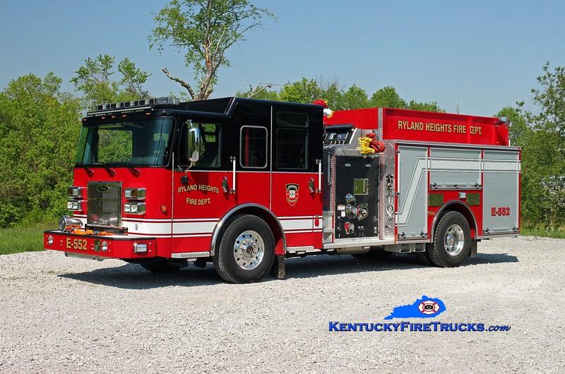 <center> Ryland Heights  Engine 552 <br> 2014 Pierce Saber 1500/1000 <br> Kent Parrish photo </center>