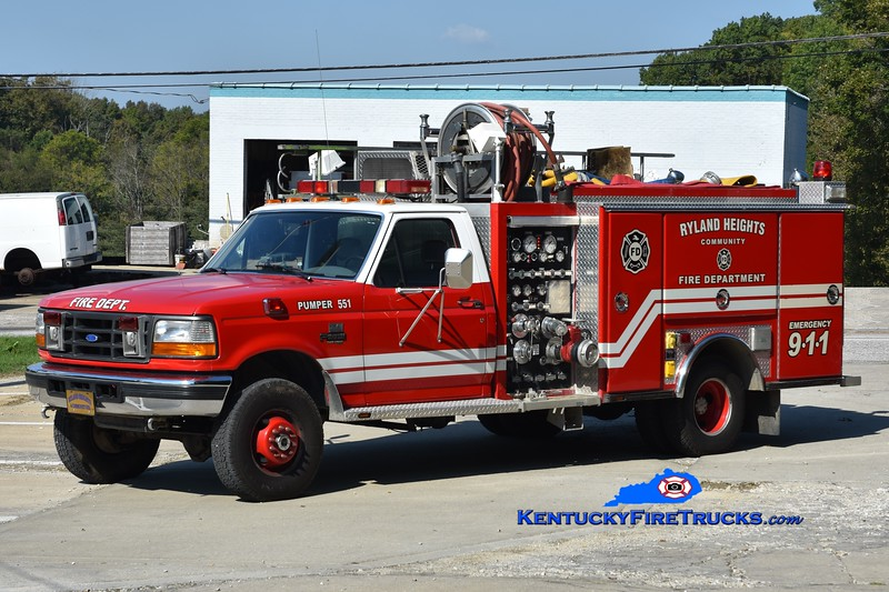 Ryland Heights  Pumper 551<br /> 1995 Ford Super Duty 4x4/Ferrara 750/300<br /> Greg Stapleton photo