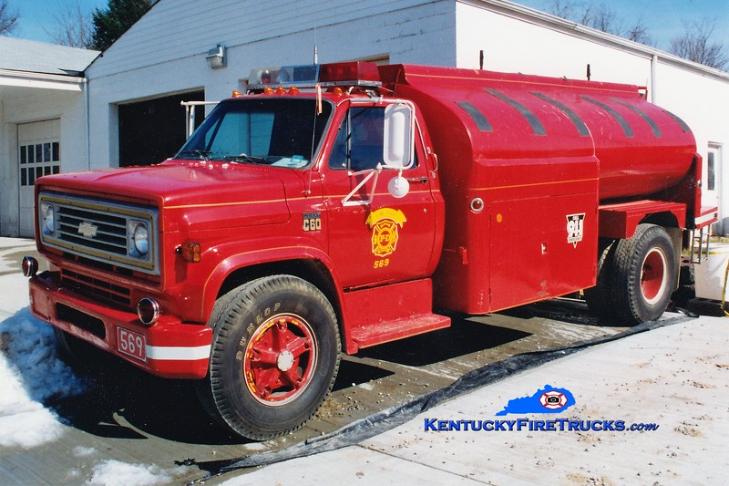 RETIRED<br /> Ryland Heights  Tanker 569<br /> 1973 Chevy/Local 500/2000<br /> Greg Stapleton photo