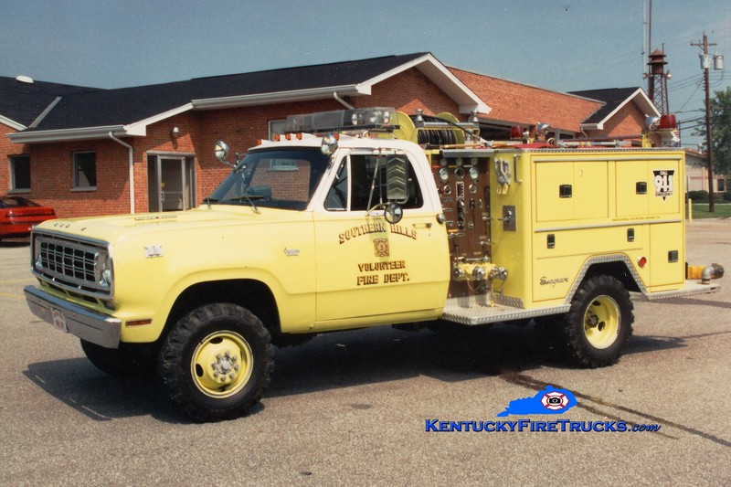 RETIRED <br /> Southern Hills  Engine 153<br /> 1976 Dodge 4x4/Seagrave 400/300<br /> Greg Stapleton