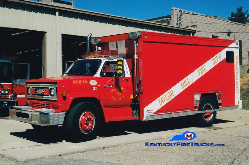 RETIRED<br /> Taylor Mill  Rescue 524<br /> 1989 Chevy C/Hesse<br /> Greg Stapleton photo