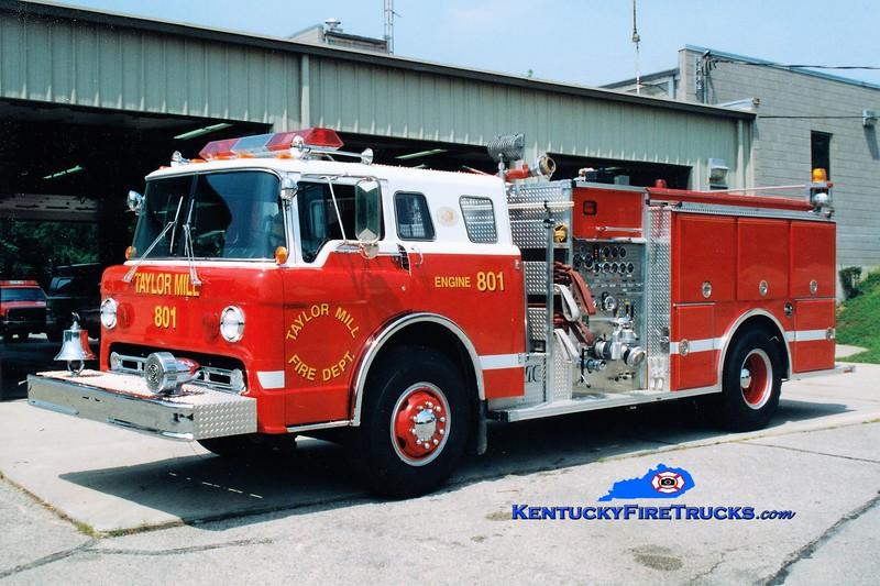 RETIRED <br /> Taylor Mill Engine 801<br /> 1986 Ford C-8000/FMC 1000/750<br /> Greg Stapleton photo