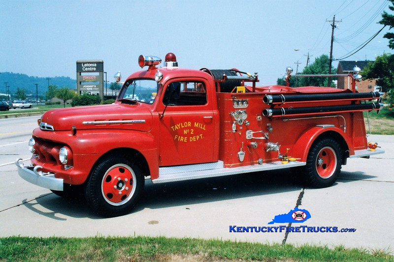 RETIRED<br /> Taylor Mill  Engine 802<br /> 1951 Ford F/American 500/250<br /> Greg Stapleton photo