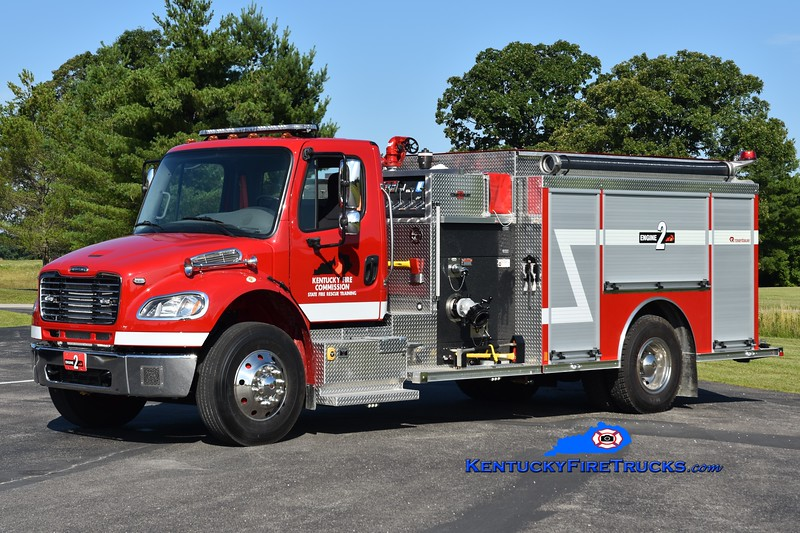 Kentucky Fire Commission State Fire Rescue Training Engine 2 <br /> 2018 Freightliner M2-106/Rosenbauer 1250/1000<br /> Greg Stapleton photo